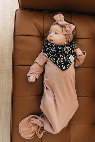 Mebie Baby Dusty Rose Knot Gown