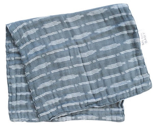Dusty Blue Horizon Burp Cloth