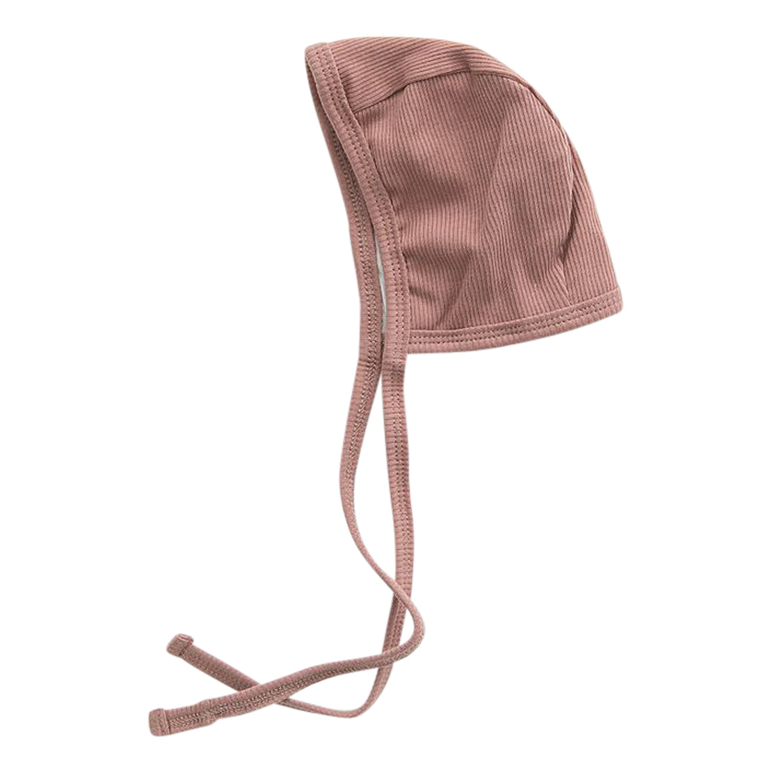 Dusty Rose Organic Cotton Ribbed Bonnet