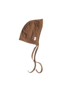 Rust Organic Cotton Ribbed Bonnet