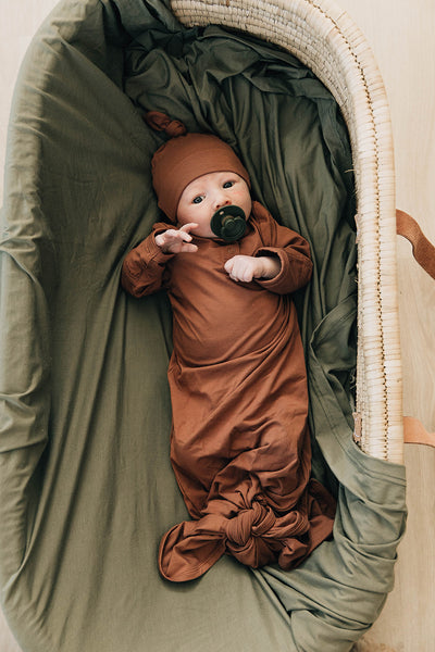 Mebie Baby Rust Knot Gown