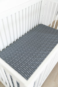 Dusty Blue Horizon Crib Sheet