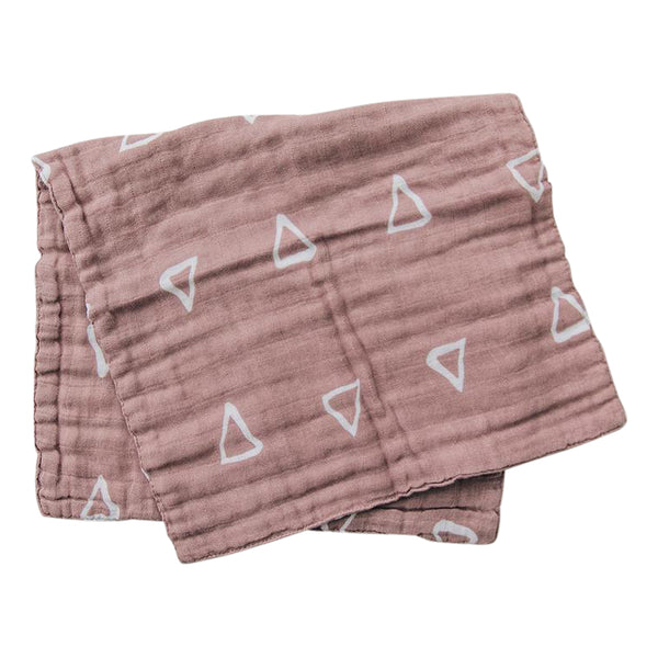 Blush Triangle Burp Cloth