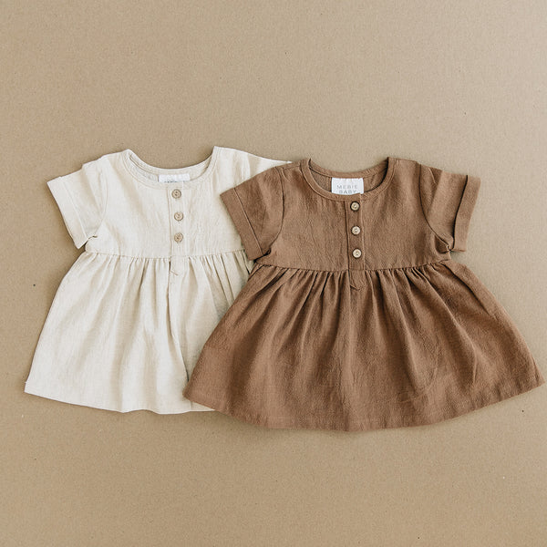 Oatmeal Linen Cotton Dress