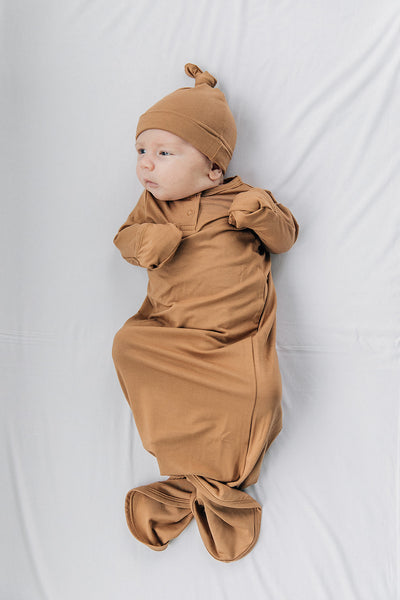 Mebie Baby Mustard Knot Gown
