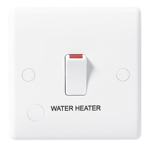 BG Nexus White 20A Double Pole Switch Water Heater- BG832WH