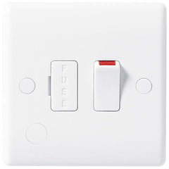 BG Nexus White 13A Switched + Fused Connection Unit + Flex Outlet- BG851