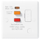 BG Nexus White 13A Unswitched Fused Connection Unit + RCD - BG855RCD