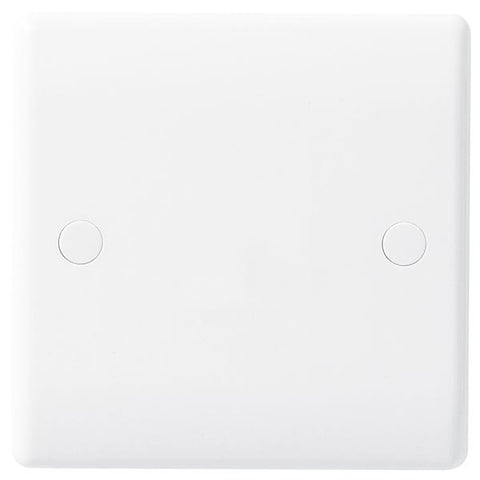 BG Nexus White 25A Bottom Entry Flex Outlet Plate - BG858