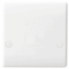 BG Nexus White 45A Bottom Entry Cooker Outlet Plate - BG879