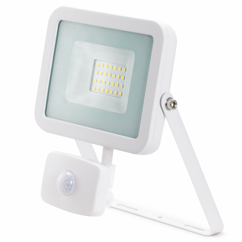 JCC LED 20W LED Floodlight + PIR White IP65 - JC45203WH