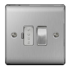 BG Nexus Brushed Steel 13A Switched Connection Unit - BG NBS50