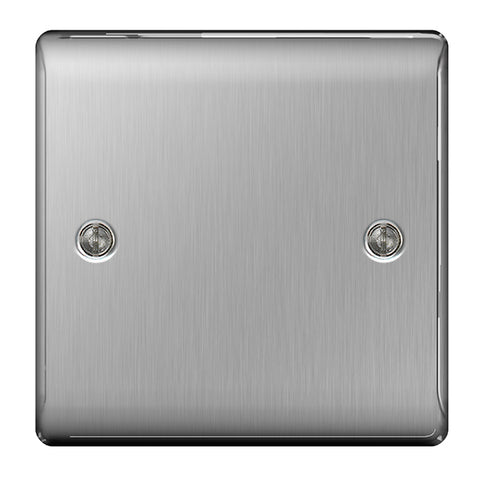 BG Nexus Brushed Steel 1 Gang Blanking Plate - BG NBS94
