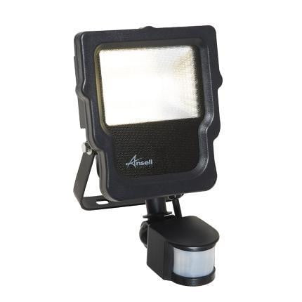 Ansell Carina 10W LED Floodlight + PIR Cool White - ACALED10/PIR