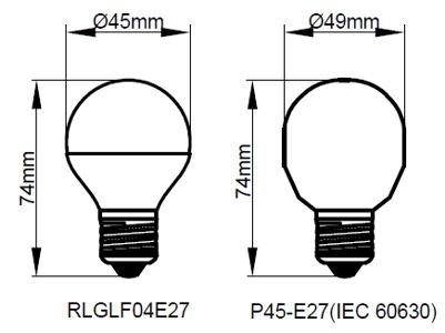 Kosnic 4W LED Golf E27 Warm White - RLGLF04E27-30-N