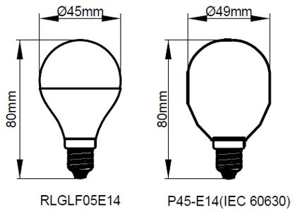 Kosnic 5W LED Golf E14 Warm White - RLGLF05E14-27-N