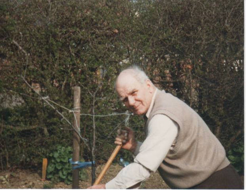 George working in his allotment