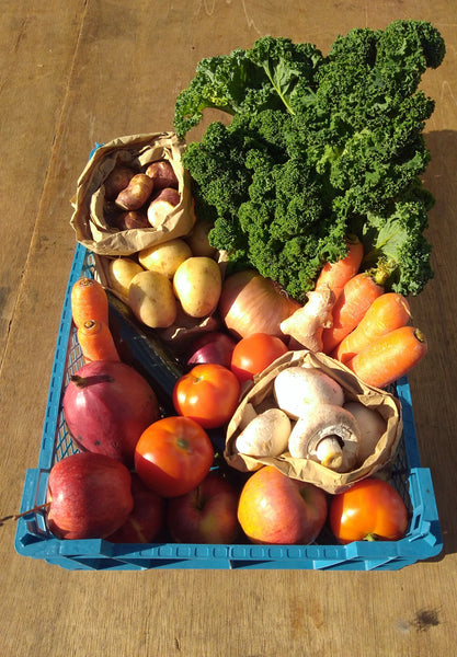 Medium fruit and vegetable box Market Garden Leeds vegbox 4
