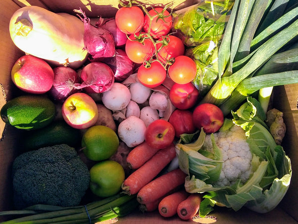 Large fruit and vegetable box Market Garden Leeds vegbox 1