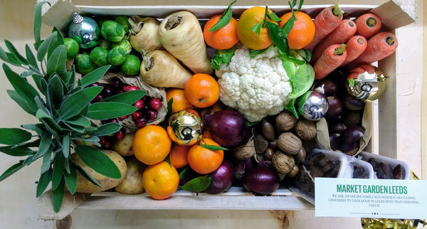 Christmas fruit and veg box vegetable vegbox leeds