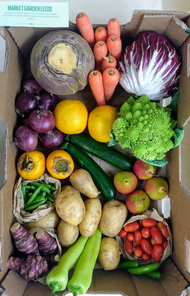 Large fruit and vegetable box Market Garden Leeds vegbox 2