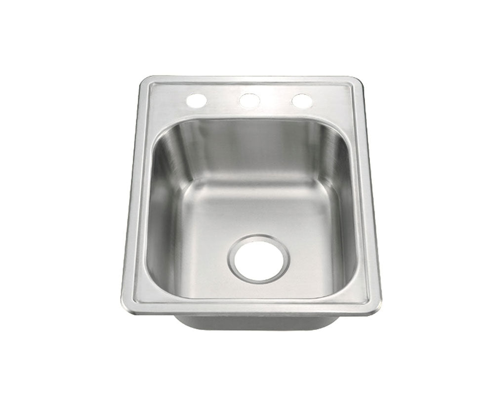 "Top Mount Single Bowl Kitchen Sink 17"" x 22"" KST17228"