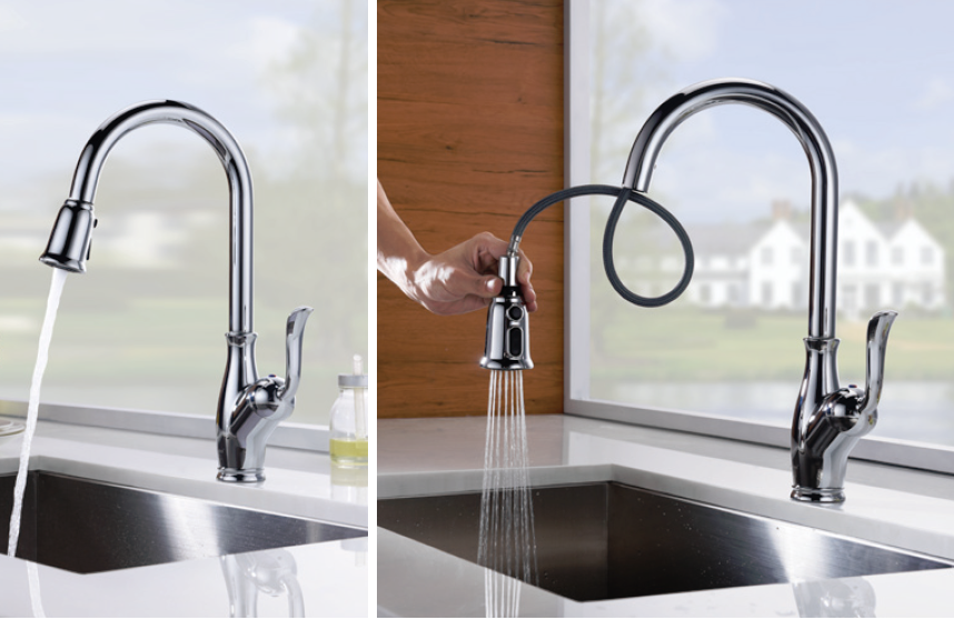 Single Handle Pull-Down Kitchen Faucet - KSK1114