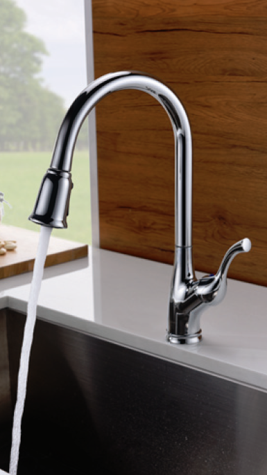 Single Handle Pull-Down Kitchen Faucet - KSK1117