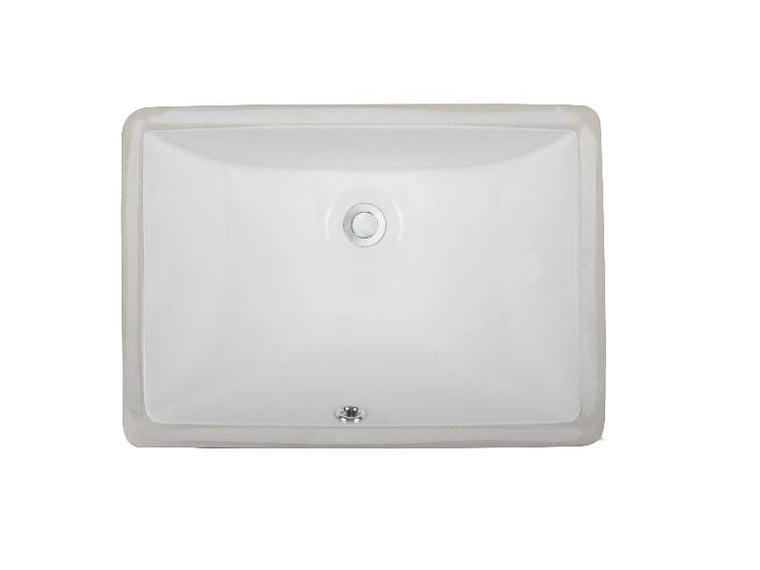 Ceramic Lavatory Sink LVU1612 White & Biscuit
