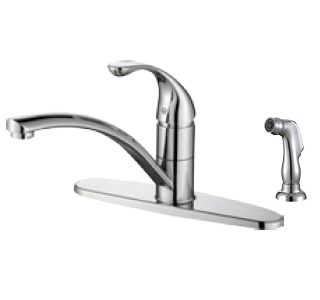 "8"" Single Handle Kitchen Faucet with With Side Sprayer - KSK8131WS"