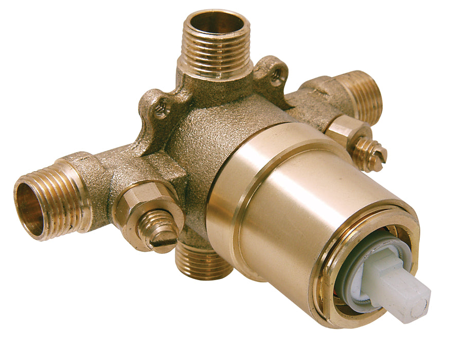 Single Handle Pressure Balanced Valve With Integral Stops