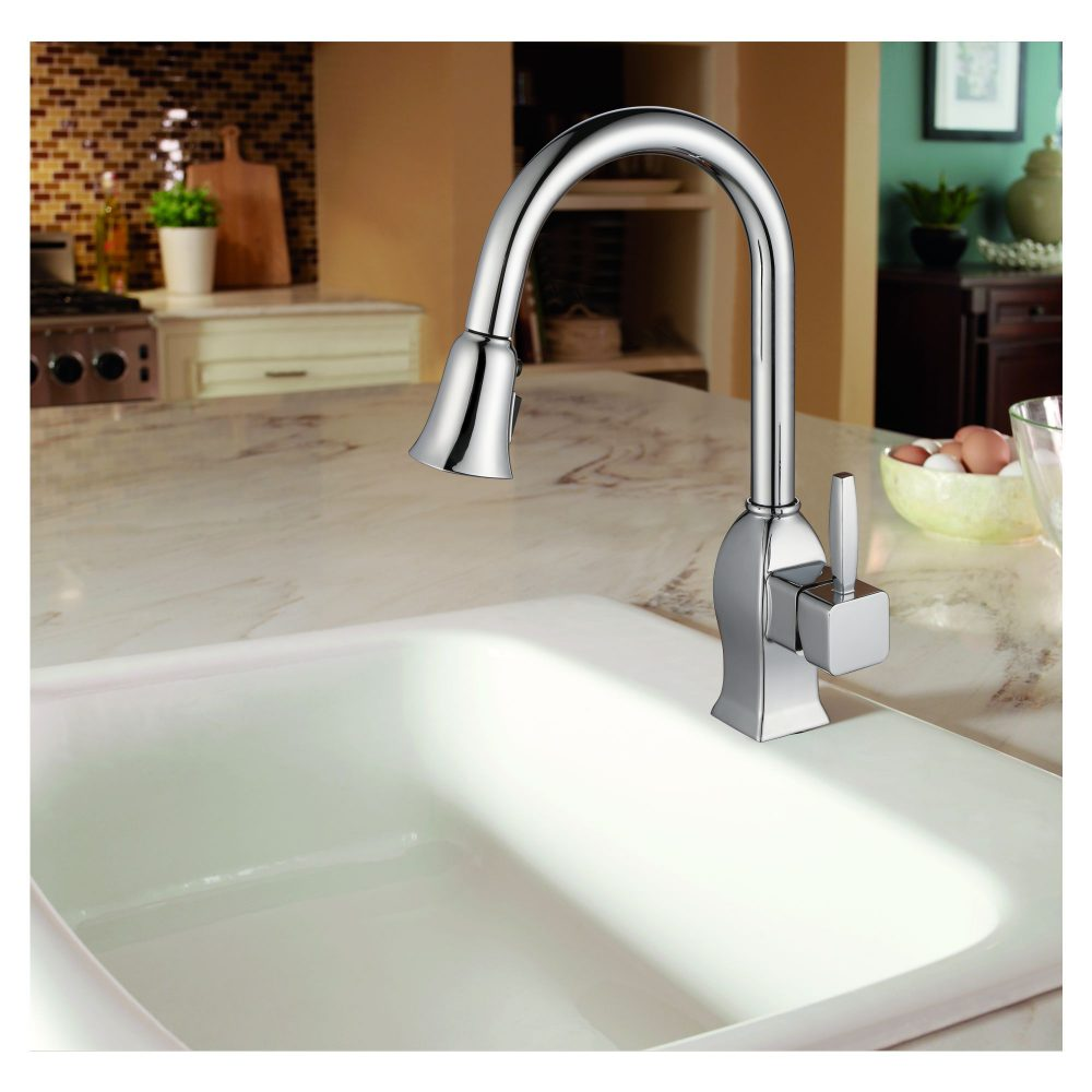 Single Handle Pull-Down Kitchen Faucet - KSK1122