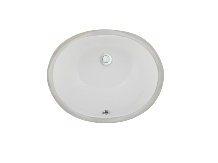Ceramic Lavatory Sink LVU1512 White & Biscuit