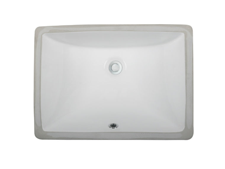 Ceramic Lavatory Sink LVU1813 White & Biscuit