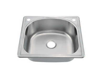 "Top Mount Single Bowl Kitchen Sink 25"" x 22"" KST25229"