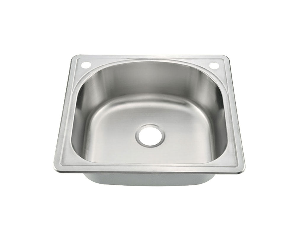 Top Mount Single Bowl Kitchen Sink 25\