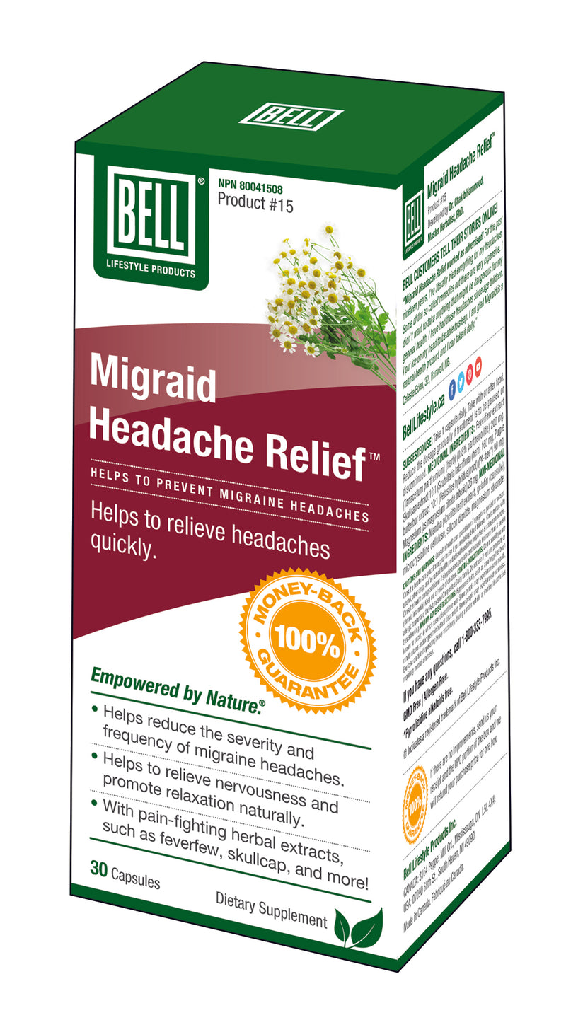 15 migraid headache relief | bell lifestyle products – bell