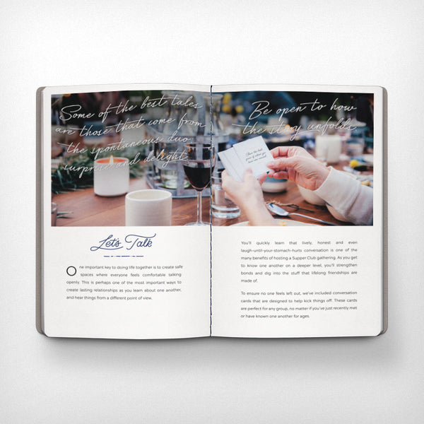 Supper Club Gathering Guide by Lumitory Makes Gatherings Easy