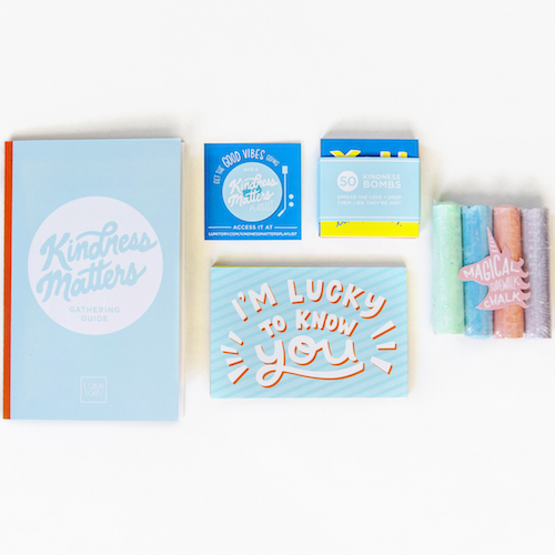 Lumitory Kindness Matters Gathering Box With Guide, Postcards, Chalk, Notes and Playlist