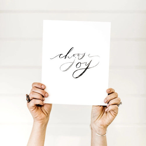 Choose Joy Watercolor Print from Lumitory Holiday Collection