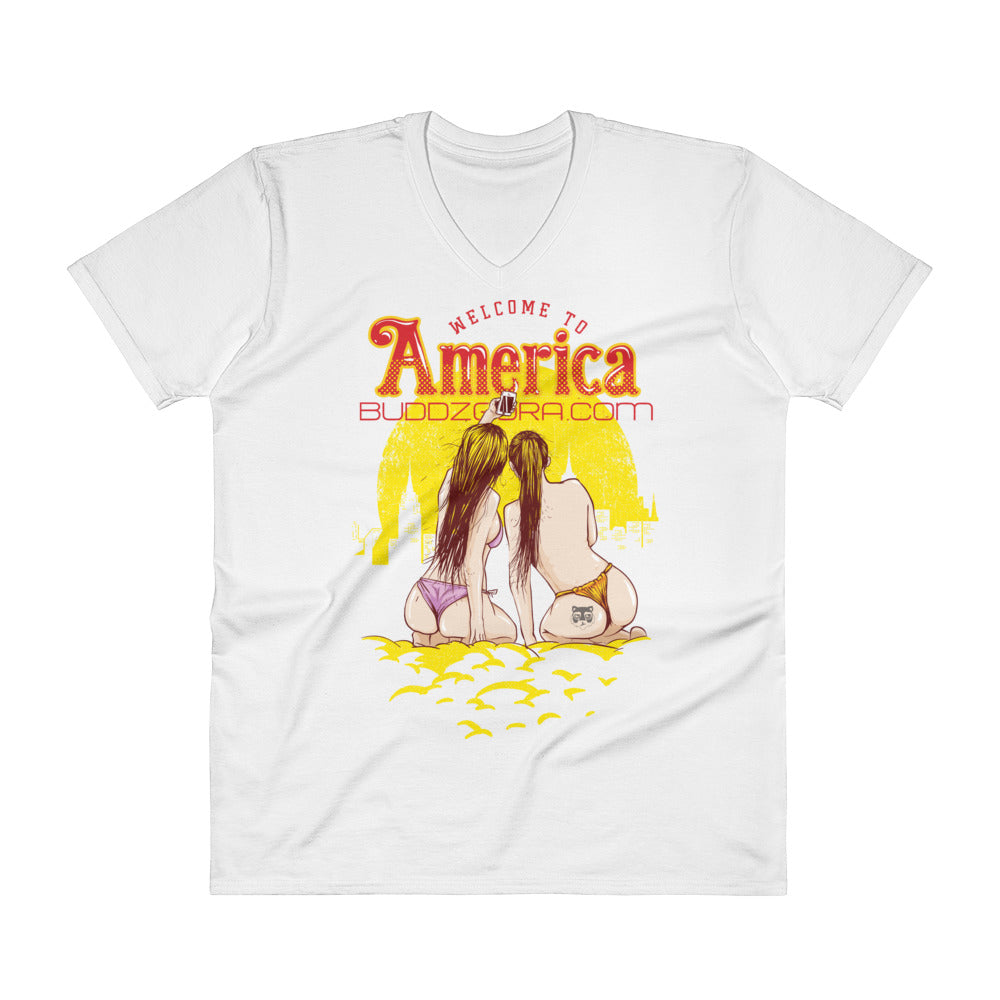 V-Neck WELCOME TO AMERICA