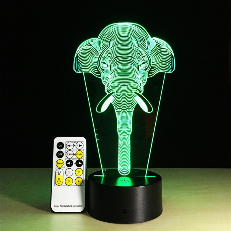 3D Optical Illusion Table Lamp 7 Colors