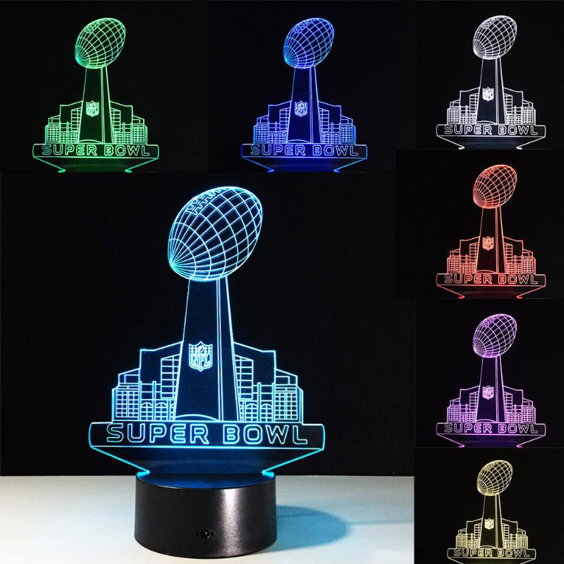 3D LED Superbowl LED Night Light