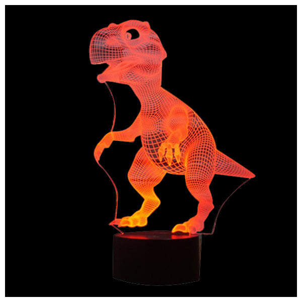 7 Colors Dinosaur Shape Lamps with USB Charge for Home Decor