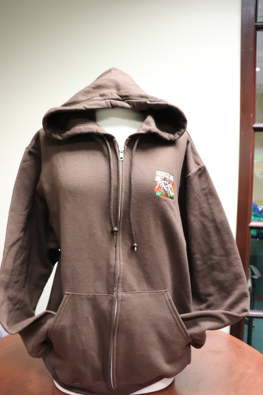 Full Zip Hoodie - Brown