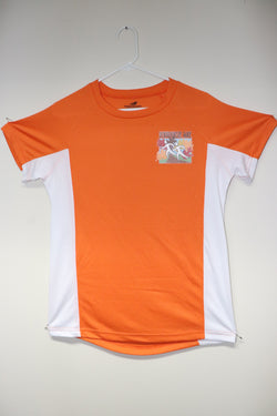 Orange Short Sleeve Moisture Wicking T-Shirt