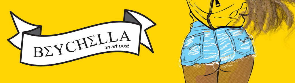 Beyonce Coachella art banner she illustrates