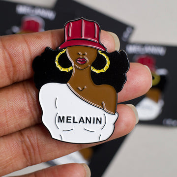 Melanin Girl soft enamel pin