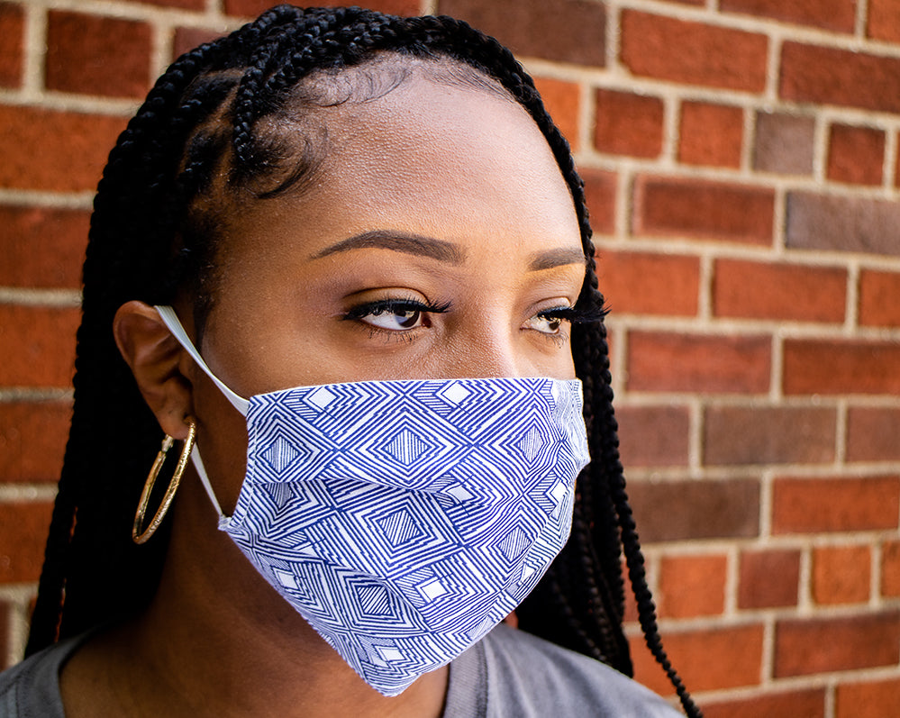 Blue Diamond Face Mask