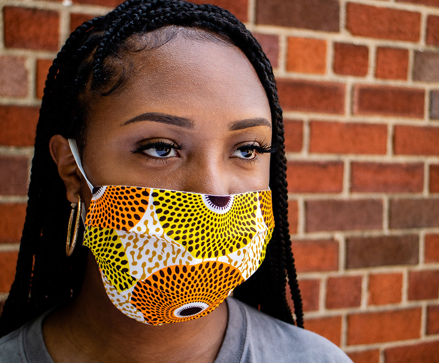 Circles Pattern Face Mask